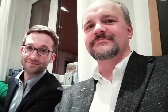 Tobias Auinger (li) und Marksu Kubatschka