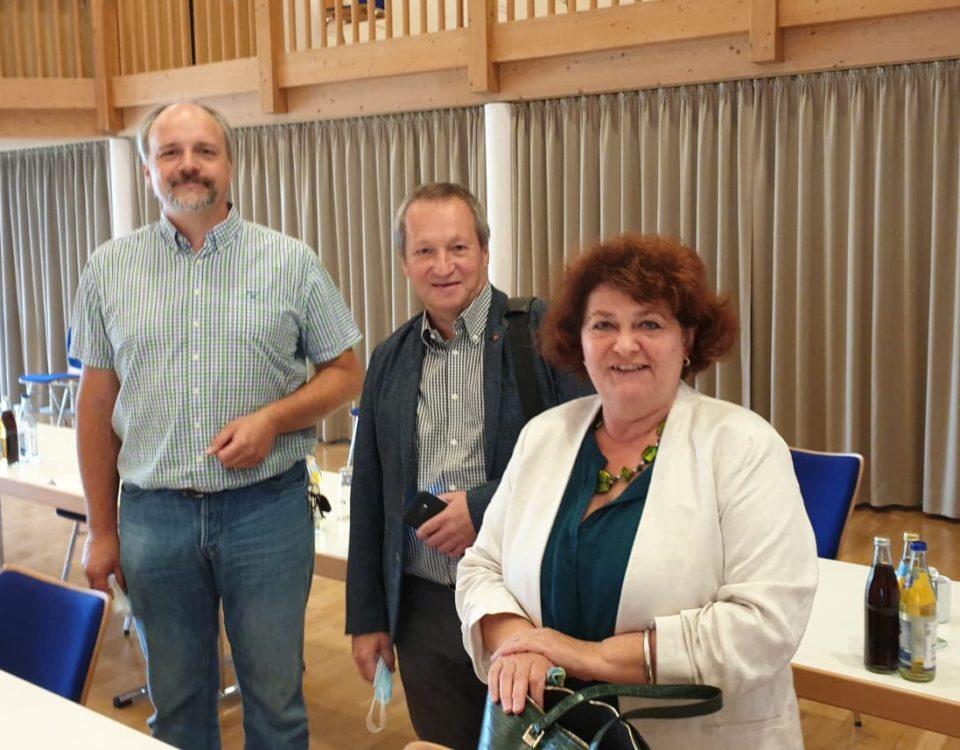 Die SPD Kreistagsfraktion Oberallgäu v.l.n.r.: Fraktionsvorsitzender Markus Kubatschka, Dr Gerhard Wimmer, Vera Huschka Foto: M. Kubatschka